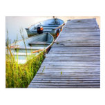 Boats by the Dock Post Card