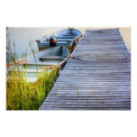 Boats by the Dock Poster