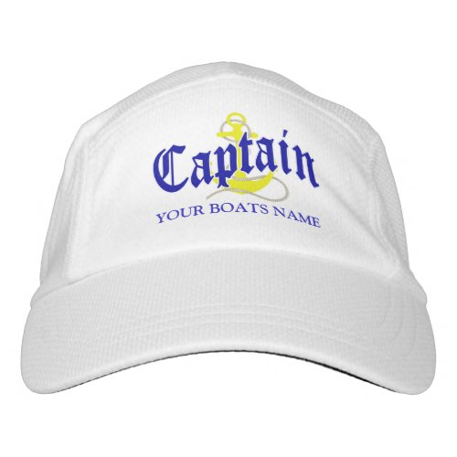 Boats captain with anchor hat