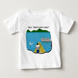 Boats - Cartoon - Watch your Wake Baby T-Shirt