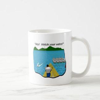 Boats - Cartoon - Watch your Wake Coffee Mug