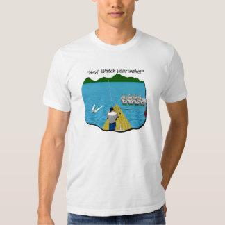 Boats - Cartoon - Watch your Wake Tee Shirt