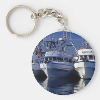 Boats - Commercial Fishing - Alaska Basic Round Button Keychain