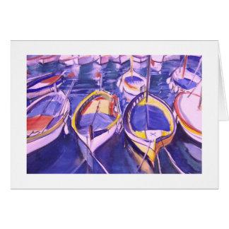 Boats Docked at Amalfi, Italy Card