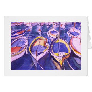 Boats Docked at Amalfi, Italy Greeting Cards