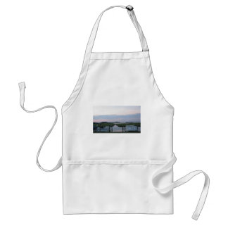 Boats Docked at Sunset Adult Apron