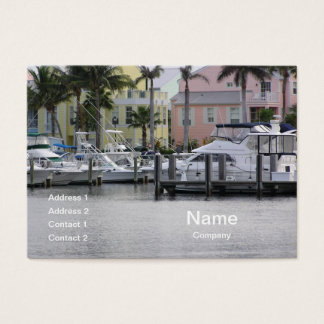 boats docked in a marina business card