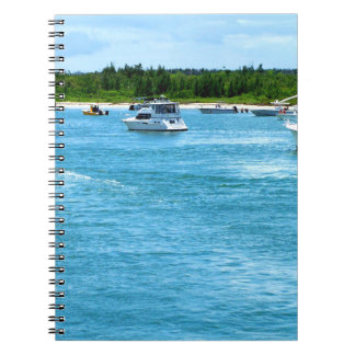 boats going out to sea in Florida Notebook