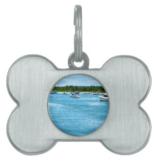 boats going out to sea in Florida Pet ID Tag