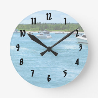 boats going out to sea in Florida Round Clock