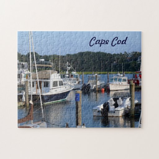 Boat Sales Cape Cod: Boats In A Cape Cod Harbor Jigsaw Puzzles