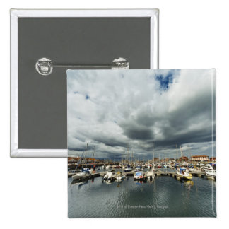 Boats In A Harbor Button