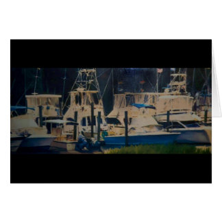 Boats in a harbor in Beaufort, SC. Card