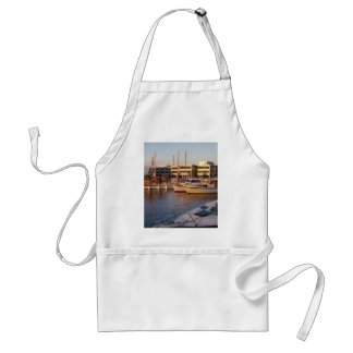 Boats In A Marina Adult Apron