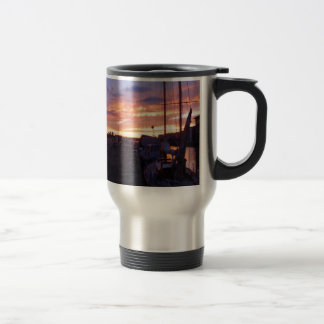 Boats In A Marina At Sunset Coffee Mugs