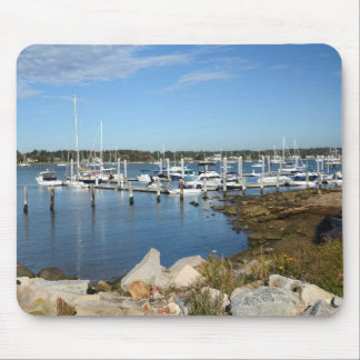 boats in a marina in Stonington, Connecticut Mouse Pad