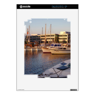 Boats In A Marina Skin For The iPad 2