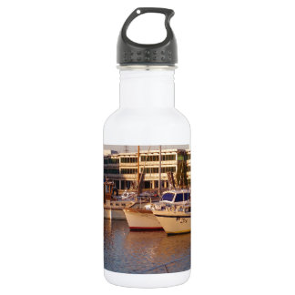 Boats In A Marina Water Bottle