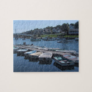 Boats In A Row Jigsaw Puzzle
