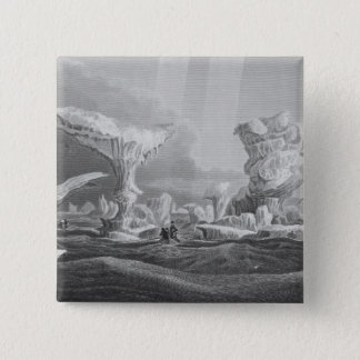 Boats in a Swell Amongst Ice, August 24, 1826, fro Pinback Button