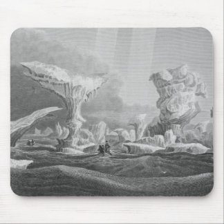 Boats in a Swell Amongst Ice Mouse Pad