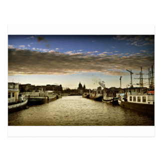 Boats in Amsterdam Post Cards