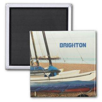 Boats in Brighton, UK Fridge Magnet