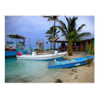 Boats in Caye Caulker, Belize Postcard