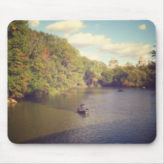 Boats in Central Park's Pond, New York City Mouse Pad