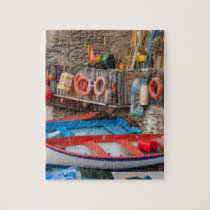 Boats in Cinque Terre Italy Jigsaw Puzzle