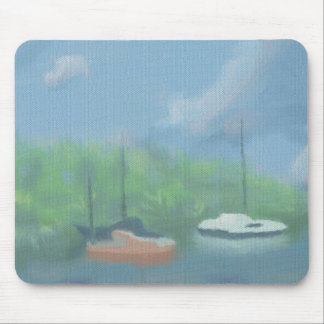 Boats in Cove, Mousepad