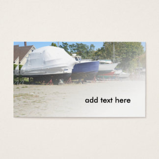 boats in dry dock business card