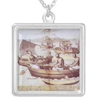 Boats in Goa Custom Necklace