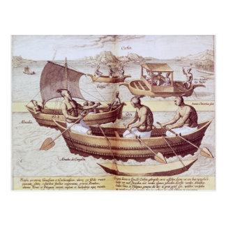 Boats in Goa Postcard