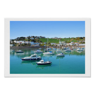 Boats in Gorey harbour Poster