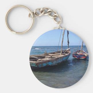 Boats in Haiti Keychain