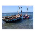 Boats in Haiti Postcard