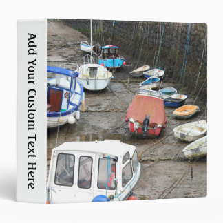 Boats in Harbor at Low Tide. Binder
