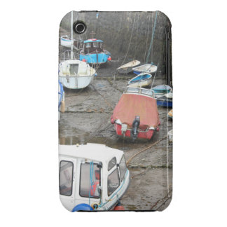 Boats in Harbor at Low Tide. iPhone 3 Case-Mate Cases