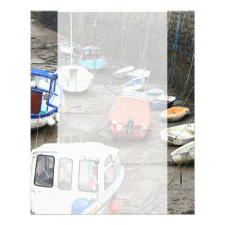 Boats in Harbor at Low Tide. Flyer