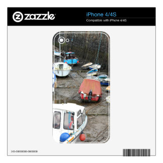 Boats in Harbor at Low Tide Decal For iPhone 4S
