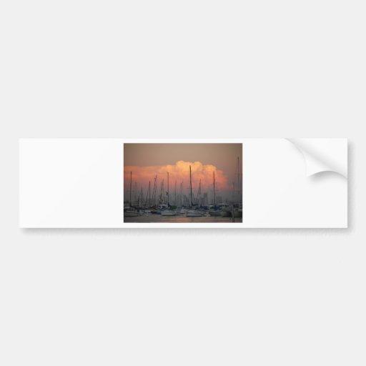 Boats in harbor bumper sticker