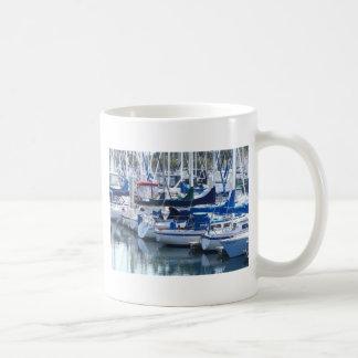 Boats in Harbor Coffee Mug