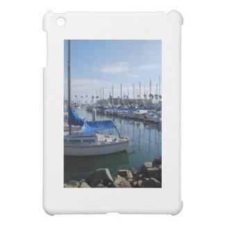 Boats in harbor iPad mini cases