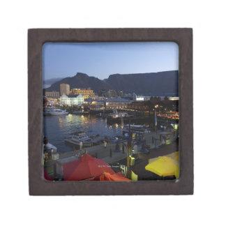 Boats in harbor, South Africa Keepsake Box