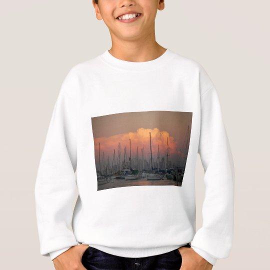 Boats in harbor sweatshirt