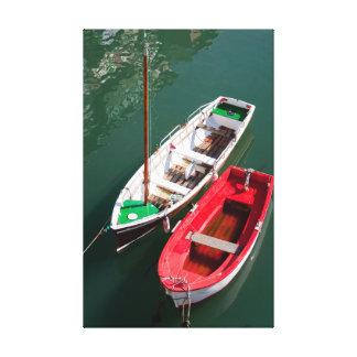 Boats in Ondarroa Lona Estirada Galerías