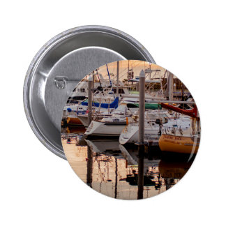 Boats in Port 2 Inch Round Button
