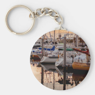 Boats in Port Keychain