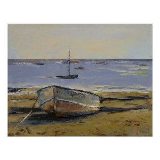 Boats in Provincetown Harbor Print